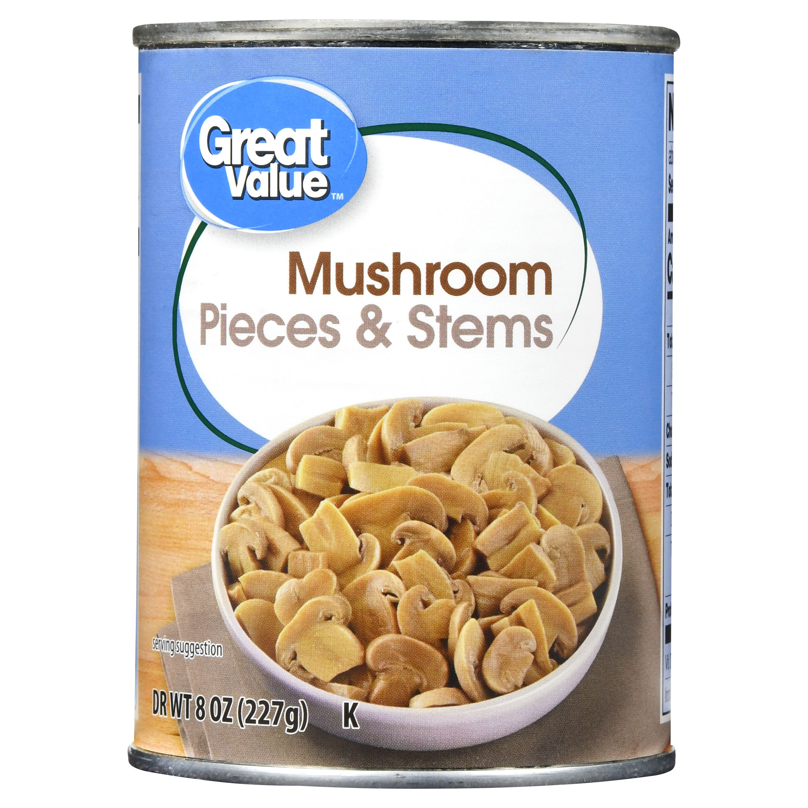 Great Value Mushroom Pieces & Stems, 8 Oz