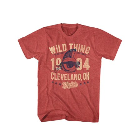 Major League 1989 Sports Comedy Movie Wild Thing Vintage Red Hthr Adult T-Shirt - Wild Thing Major League