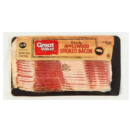 Great Value Bacon Applewood Smoked 16 Oz Walmart Com