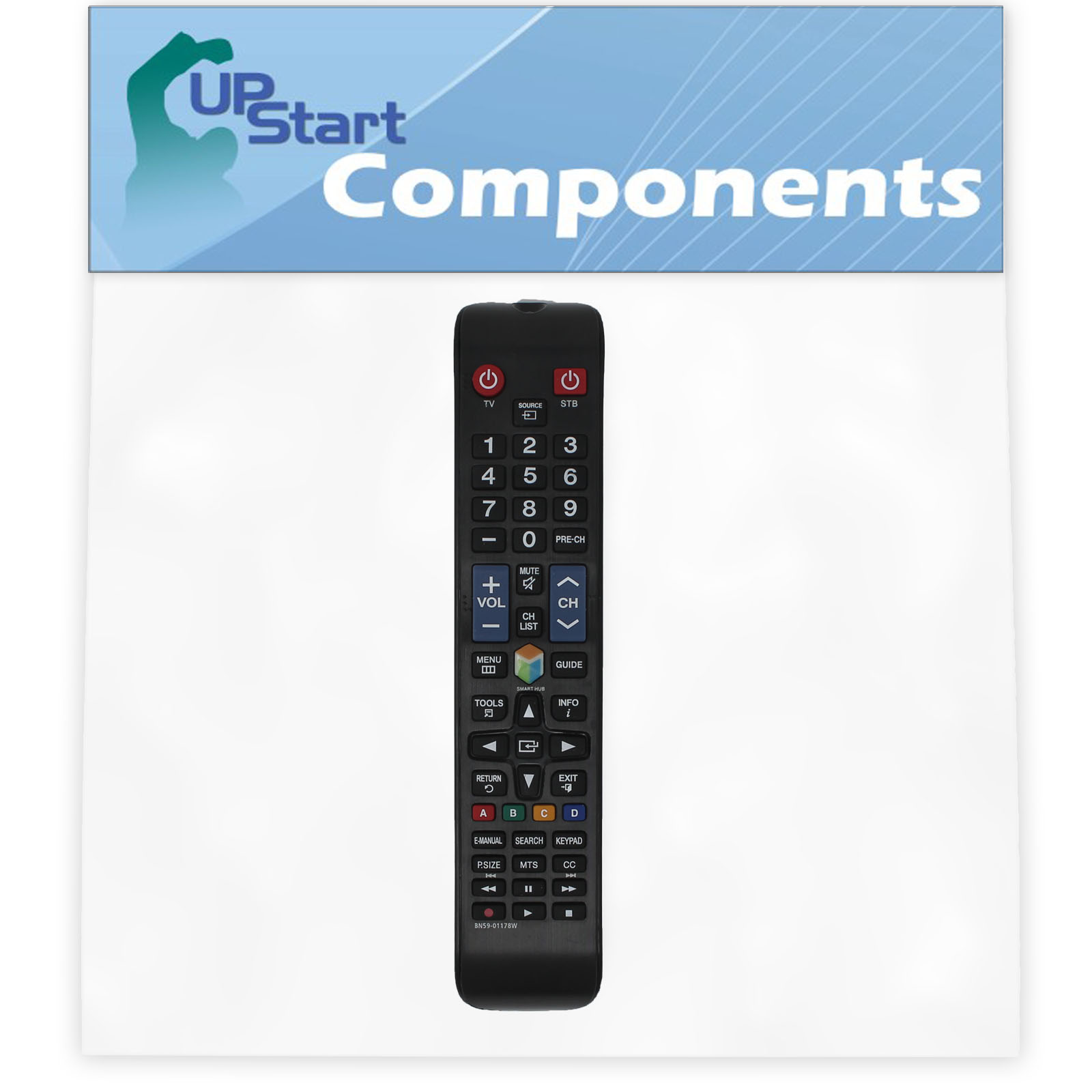 2 Pack Replacement Samsung BN59-01178W TV Remote Control for Samsung UN75H6300AFXZA Television - image 3 of 4
