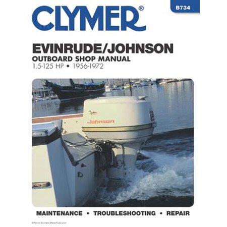 Clymer Evinrude/Johnson Outboard Shop Manual 1.5-125 Hp, 1956-1972 : Maintenance, Troubleshooting, Repair 1989 Outboard Repair Manual