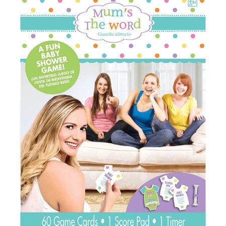 Mum's the Word Baby Shower Game - Party Supplies (Baby Shower Mums)