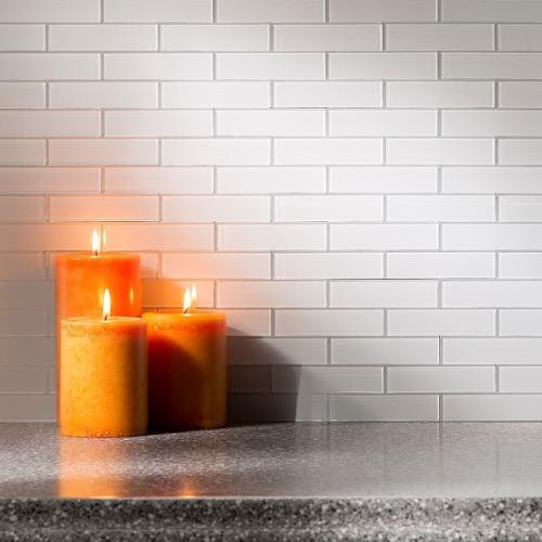 ACP Aspect Glass Matted Subway Tile in Frost 15-square Fo...