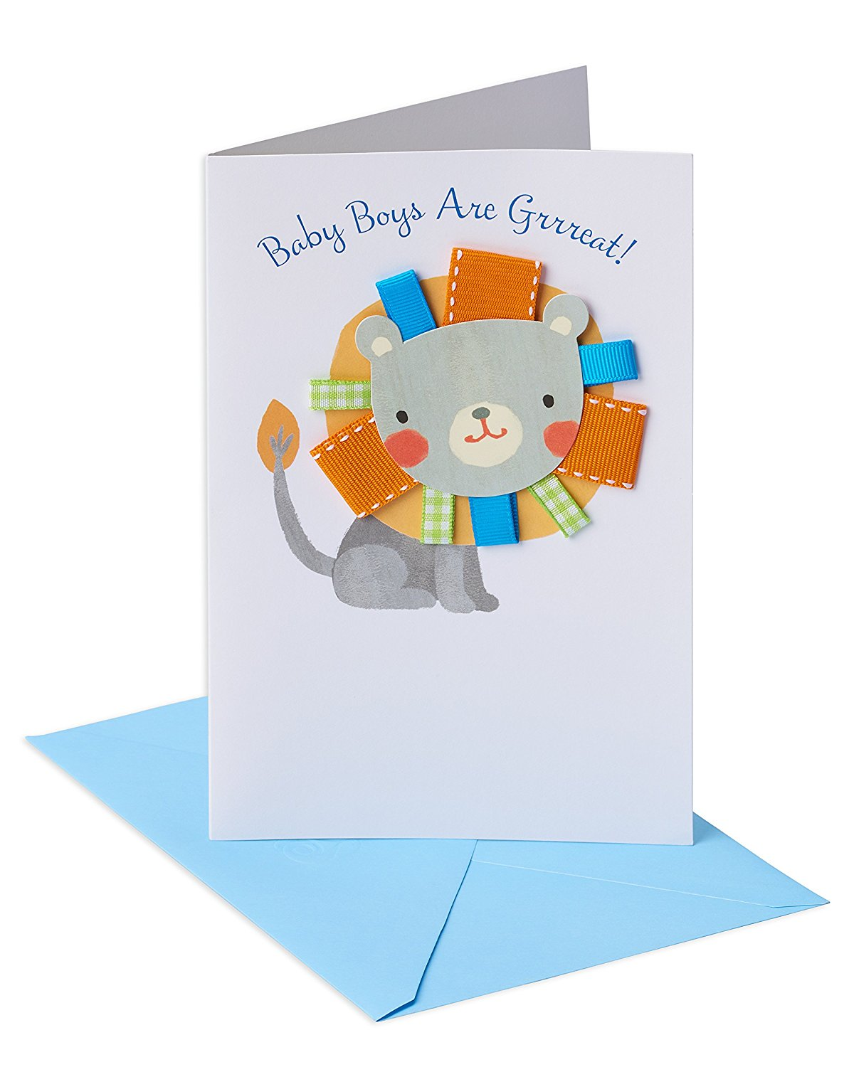 American Greetings Lion New Baby Boy Congratulations Card With