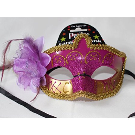 Regent Products Purple and Gold Party Carnivale Masqureade Halloween Mask with - Carnivale Chicago Halloween