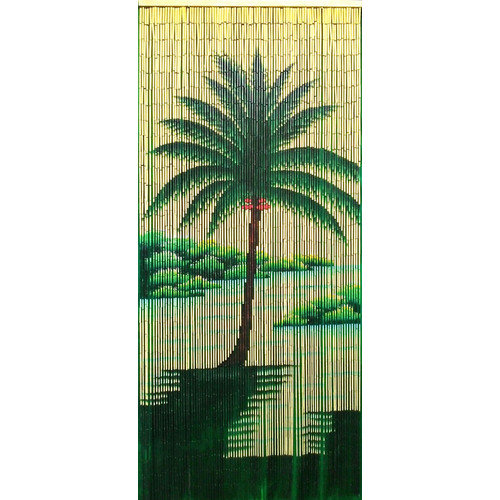 Bamboo54 Halcyon Palm Tree Single Curtain Panel