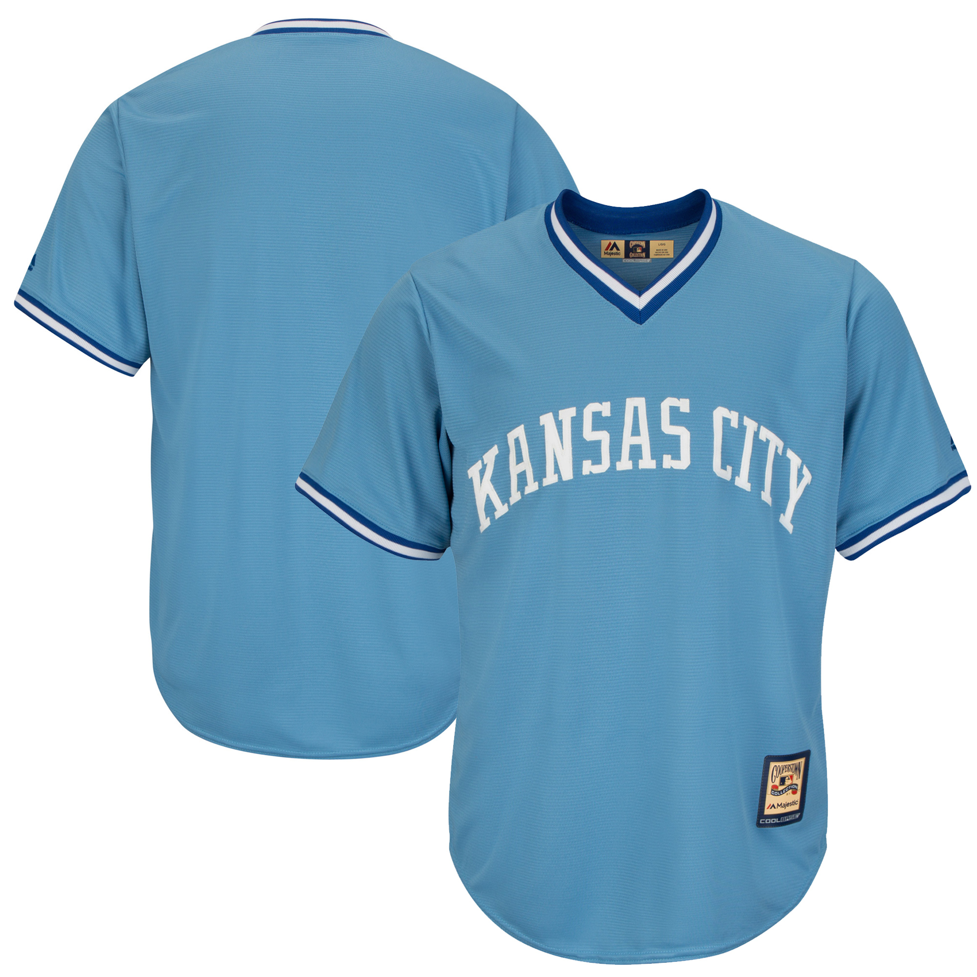 Kansas City Royals Majestic Cooperstown Cool Base Team Jersey - Light Blue