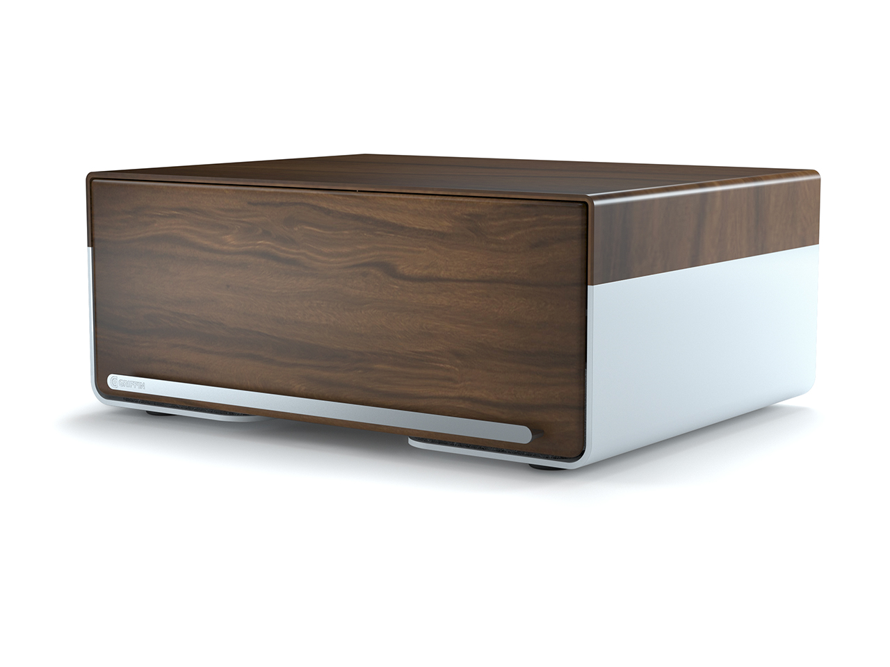 Griffin Cove USB 5-Port Charging Station, Medium Walnut, An elegant place to store and charge everything. by Griffin Technology