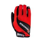 Stronger RX 3 in. Red Gloves, Large