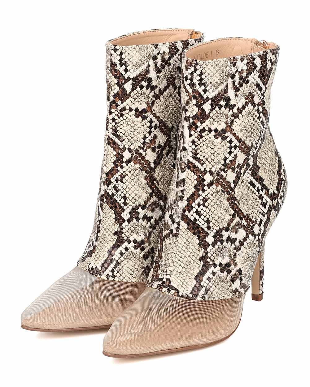 765cfb249815 Cape Robbin - Women Mesh Toe Ankle Boot - Stiletto Bootie - Mixed Fabric  Heel Bootie - HK67 By Cape Robbin - Walmart.com