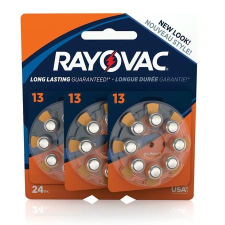 Rayovac Size 13 Hearing Aid Batteries, 24-Pack L13ZA-24ZMB