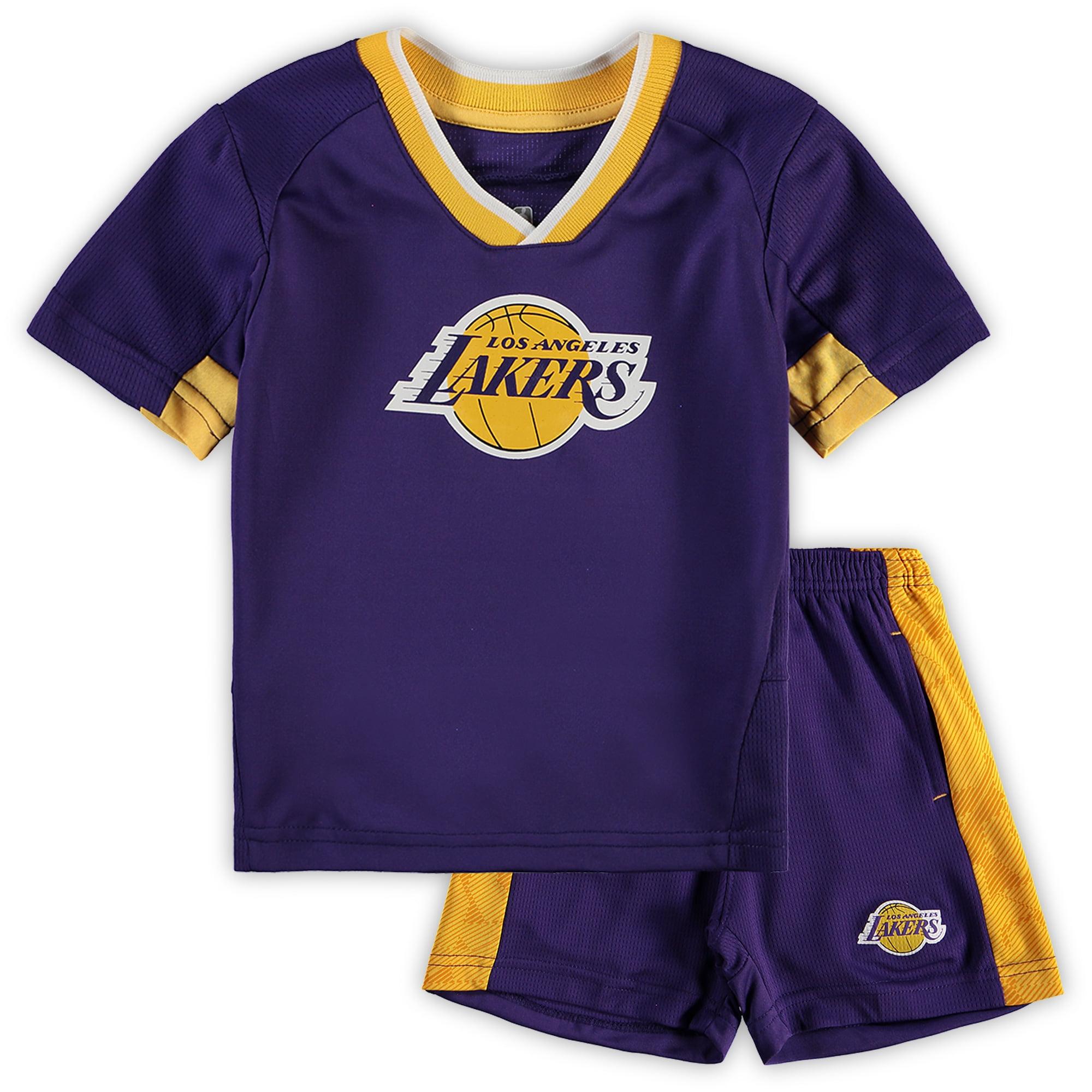 Los Angeles Lakers Preschool & Toddler Double Dribble T-Shirt & Shorts Set - Purple