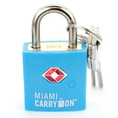 Miami CarryOn TSA Approved Padlock - TSA Keyed Luggage Lock - Light (A 1 Lock And Key Miami Fl)