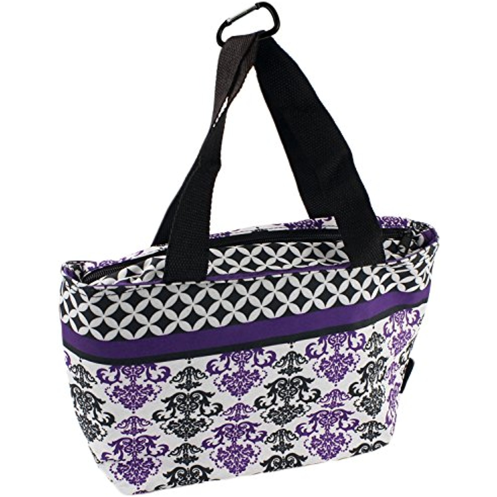 On-The-Go Soft-Sided Insulated Lunch Tote Bag with Handles by bogo Brands (Purple)