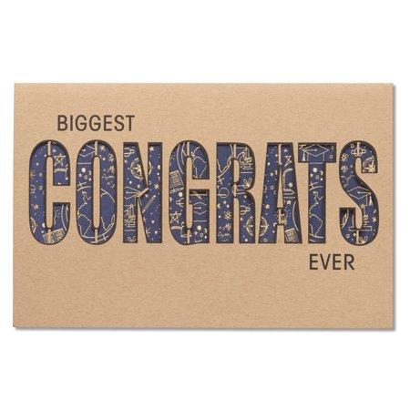 American Greetings Graduation Biggest Congrats Ever Card with Foil - Foil Trade Cards