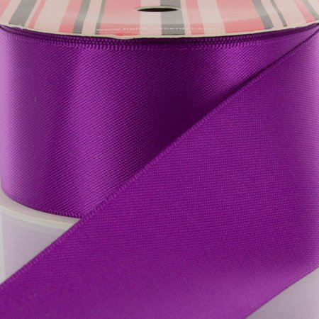 "3/8"" Ultra Violet Double Face Satin Ribbon 5 yard Reel"