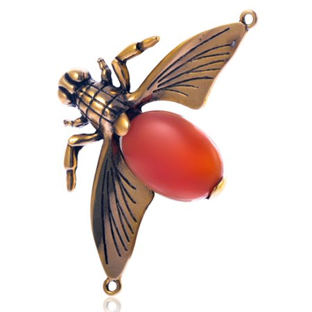 (Lizard Antique Gold-Finished Pendant With Gemstone Embellishment 46x75mm pack Of 1pcs)