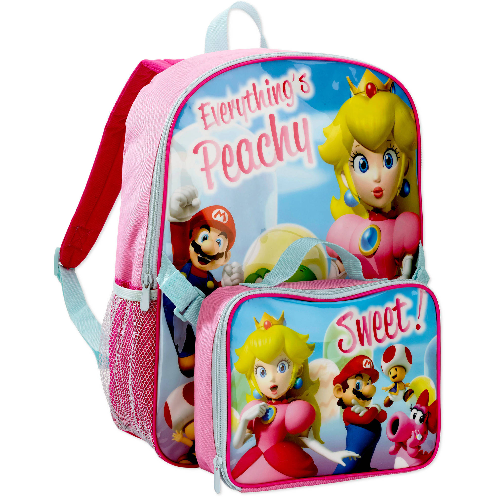Super Mario Girls' Backpack with Lunch Kit
