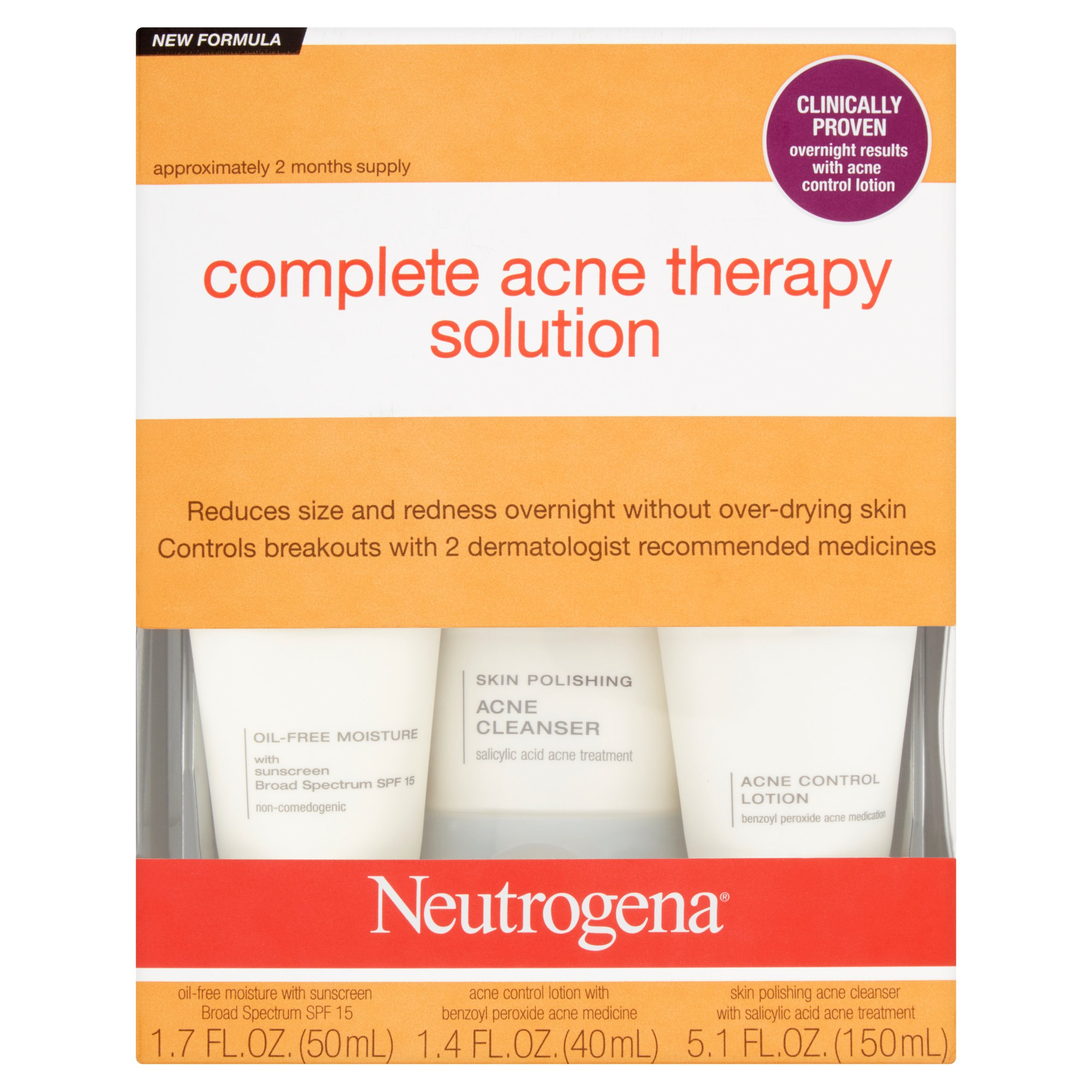 Neutrogena Complete Acne Therapy Solution Kit - Walmart.com
