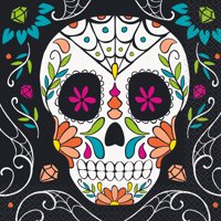 Skull Day of the Dead Paper Luncheon Napkins, 6.5in, 40ct