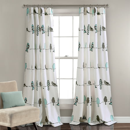 Rowley Birds Room Darkening Window Curtain Panels