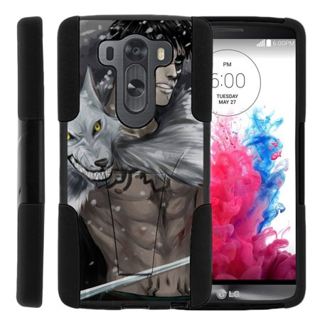 LG V10 and LG G4 Pro STRIKE IMPACT Dual Layer Shock Absorbing Case with Built-In Kickstand - Winter Warrior