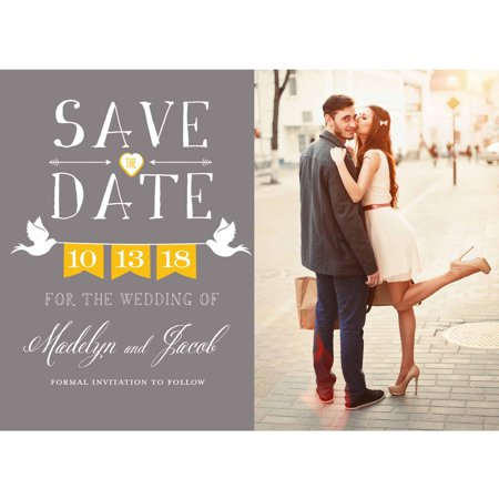Doves Standard Save the Date (Diy Save The Date Magnets)
