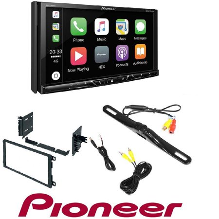 Pioneer DVD/CD Player Bluetooth Android Auto CarPlay 2001-2012 CHEVY SILVERADO TAHOE SUBURBAN 2 DIN DASH KIT And REAR VIEW CAMERA ()