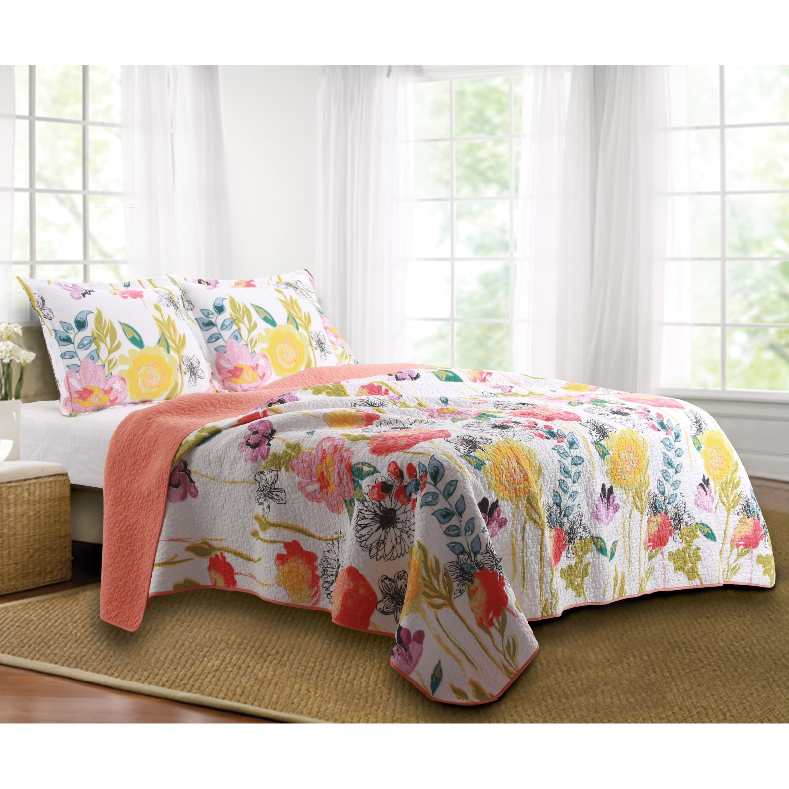 Greenland Home Fashions Watercolor Dream Quilt Set by Greenland Home Fashions
