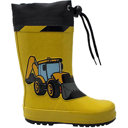 Toddler Boy's Backhoe Rain Boot