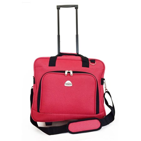 TrendyFlyer Computer Laptop Rolling Bag 2 Wheel Case Red ()