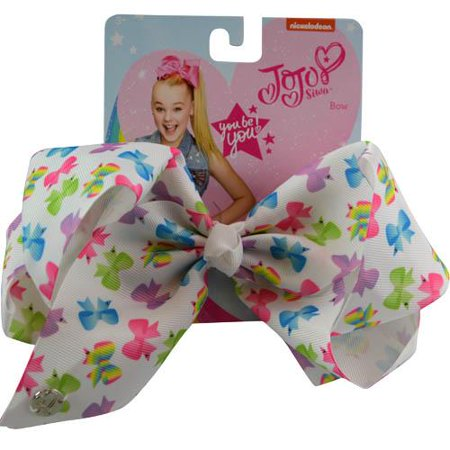 JoJo JoJo Siwa All Over Bow Print Hair Bow Clip Signature Collection Novelty Fashion Collectibles