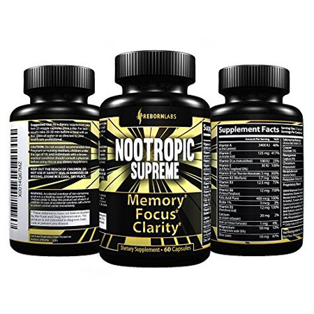 Powerful Brain Supplement For Memory Focus Mental Clarity Support