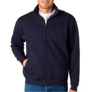 Weatherproof 7175 Adult Cross Weave Full-Zip Warm-Up Sweatshirt - Navy, Medium