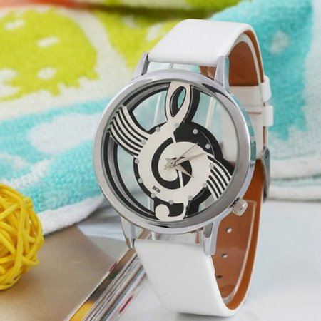 Outtop Watches Note Music Notation Leather Quartz Wrist watch](Halloween Witches Music)