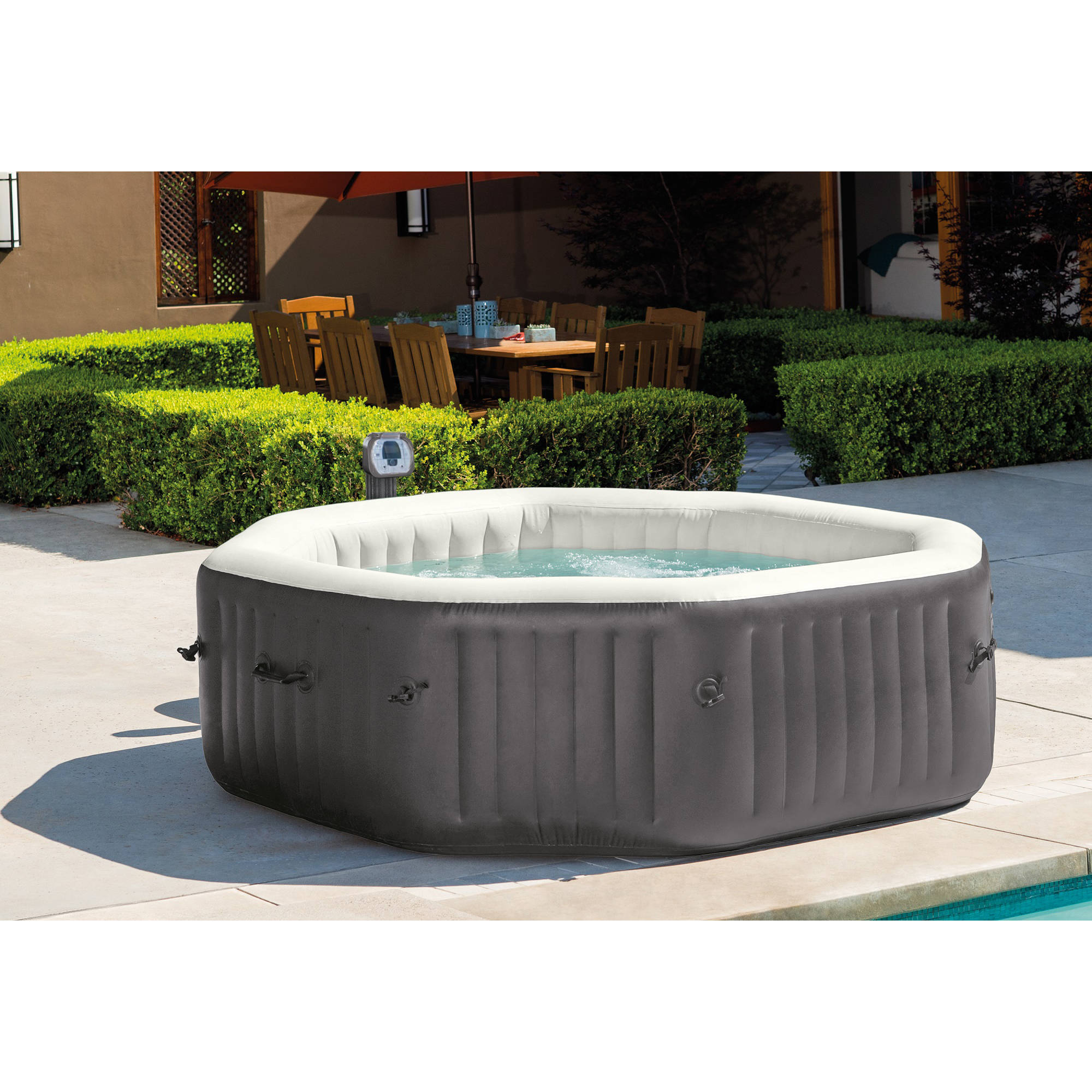 Coleman SaluSpa 4 Person Portable Inflatable Outdoor Spa Hot Tub, Black -  Walmart.com