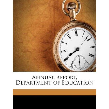 Annual Report  Department Of Education
