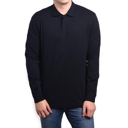 dee944722 Z Zegna Men Long Sleeve Pique Cotton Polo Shirt Dark Grey