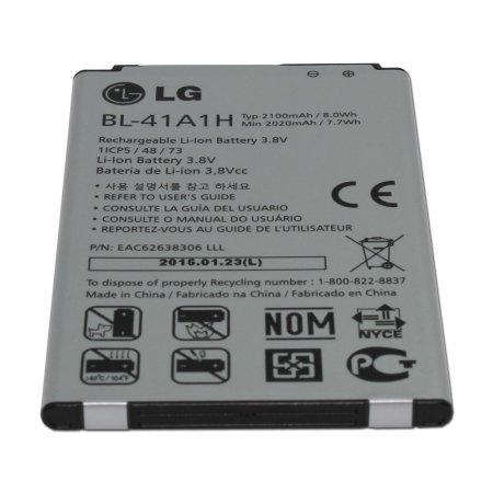 Genuine LG Battery BL-41A1H EAC62638306 2020mAh for LG Tribute LS660 Virgin,Boost & Sprint Mobile (Non-Retail Packaging)