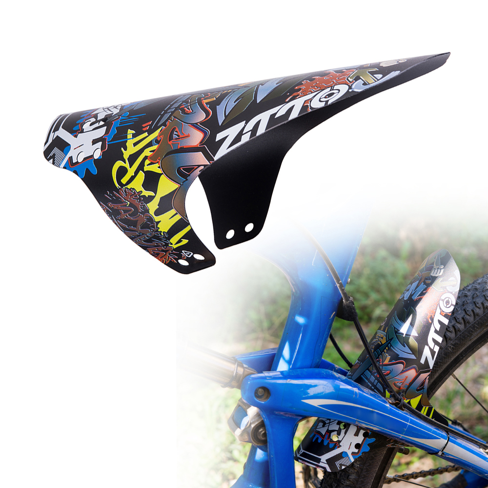 Bikes Fenders Outdoors MTB Bicycles Front Rears Carbons Fiber Mudguard Accessory