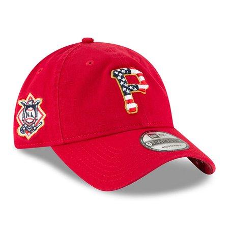 Pittsburgh Pirates New Era 2018 Stars & Stripes 4th of July 9TWENTY Adjustable Hat - Red - OSFA