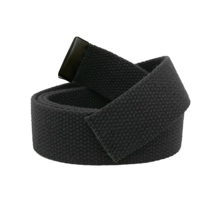 Replacement Canvas Web Belt 1.25 Military Width Black Tip Small