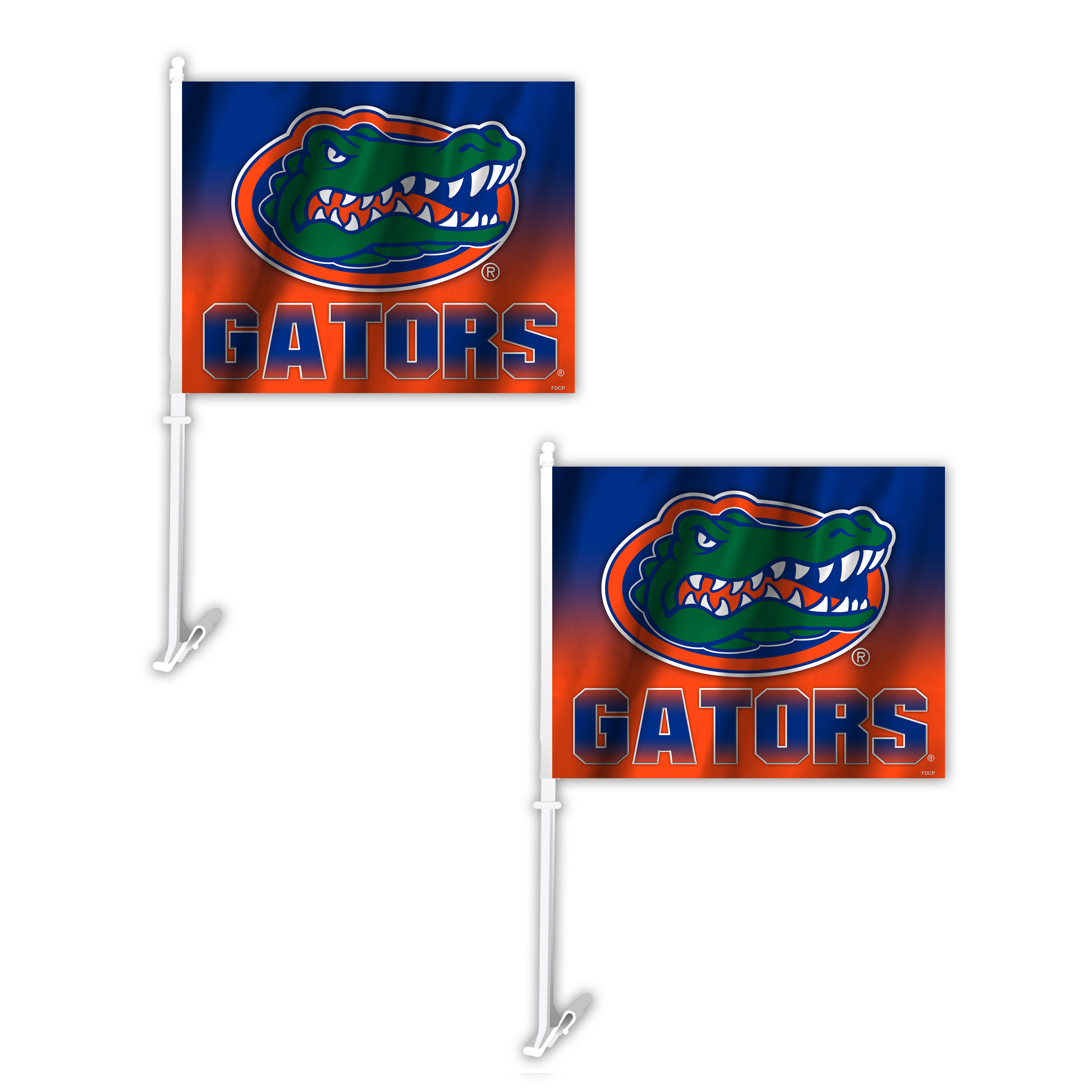 NCAA Florida Gators Ombre Car Flag 2 Pack