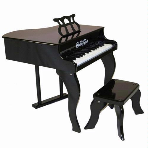 Schoenhut 3005B 30 Key Fancy Baby Grand Piano - Black