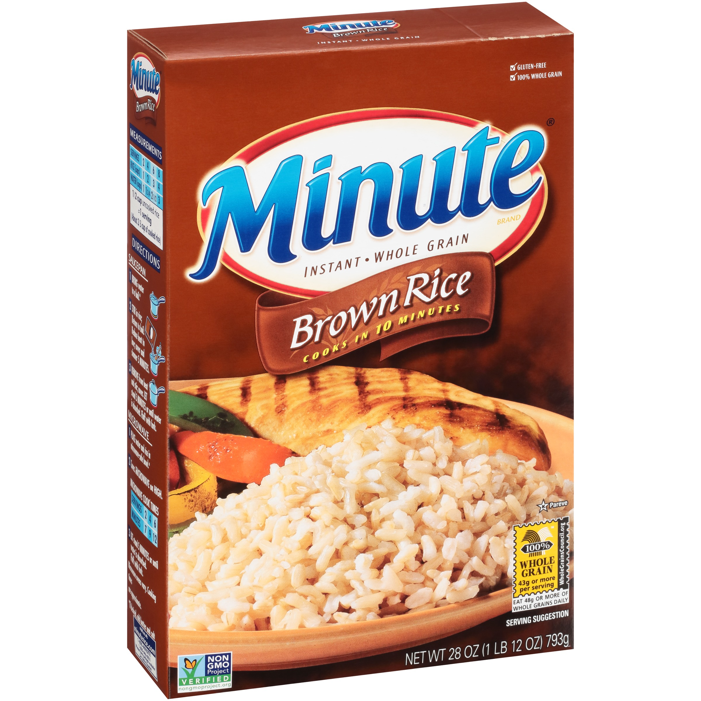 Minute® Instant Whole Grain Brown Rice 28 oz. Box