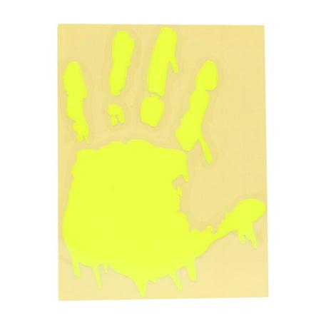 Fluorescent Yellow Palm Design Car Exterior Body Reflective Sticker