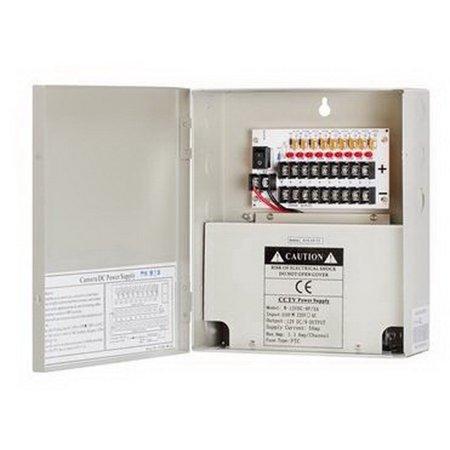 Cmple 1355-N 12Volt 9P 5 Amp Power Supply Box for CCTV 5 Amp Power Supply Box
