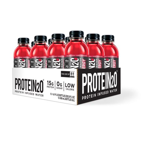 Protein2o + Energy, Protein Infused Water, Cherry Lemonade, 15g Protein, 12 Ct.