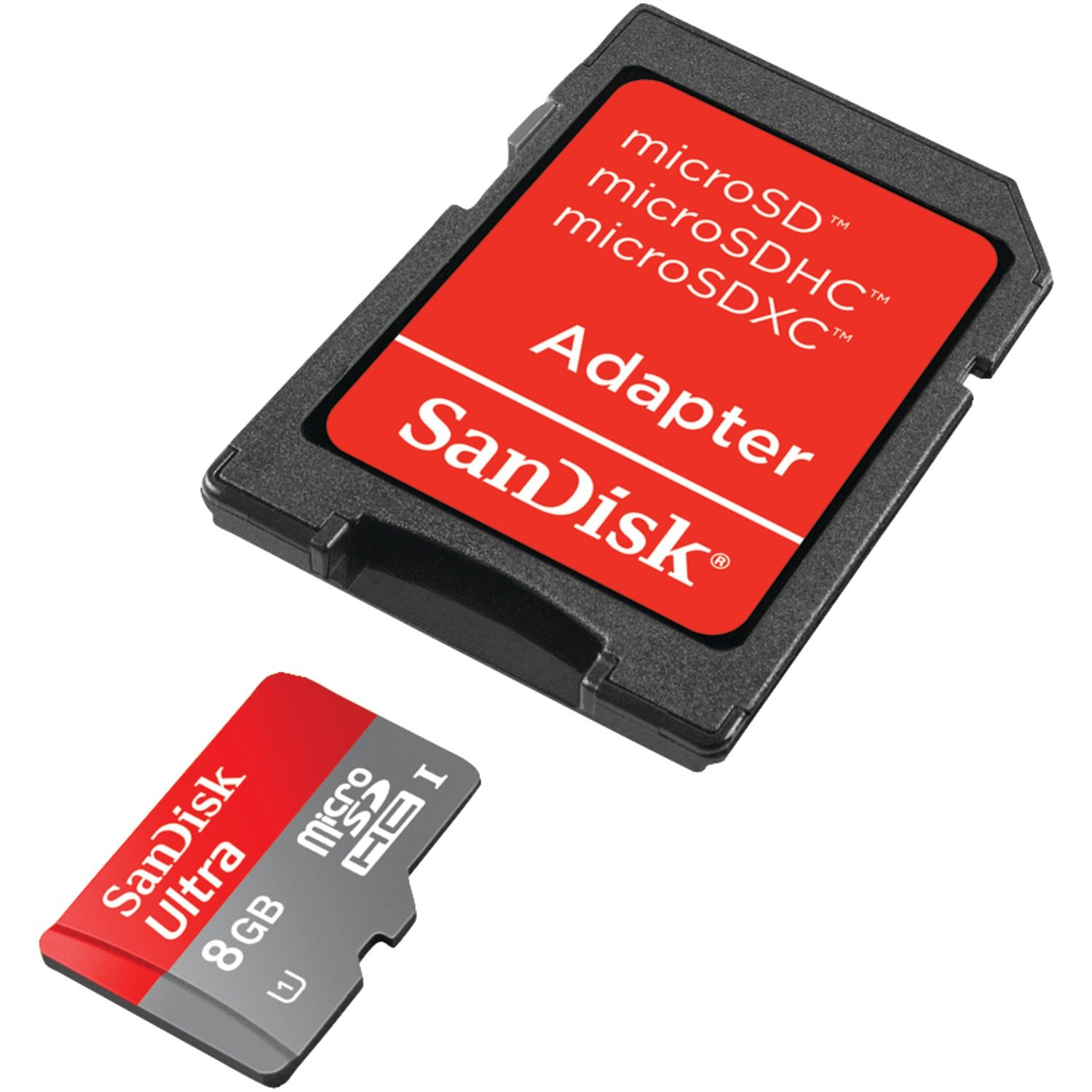 Sandisk Sdsdqua-008g-a46a 8gb Microsdhc Memory Card With Adapter