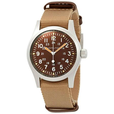 (Hamilton Khaki Field Mechanical Brown Dial Men's Watch H69429901)